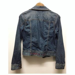 GIRL POWER Stitched Denim Jacket | Old Navy EUC